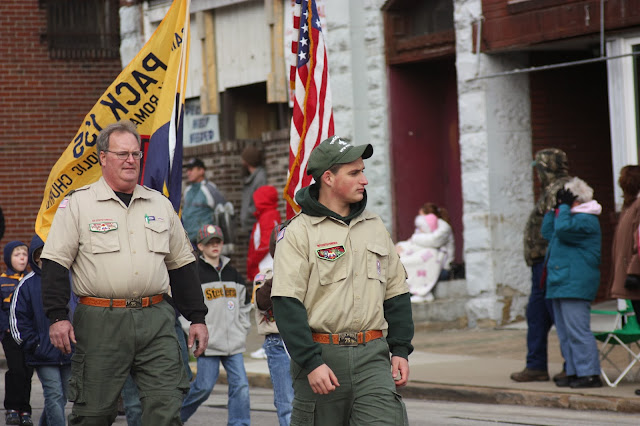 Boy scout in Veterans Day parade
