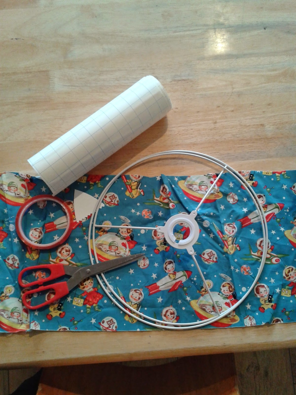 lampshade making kit at Creative Biscuit workshop
