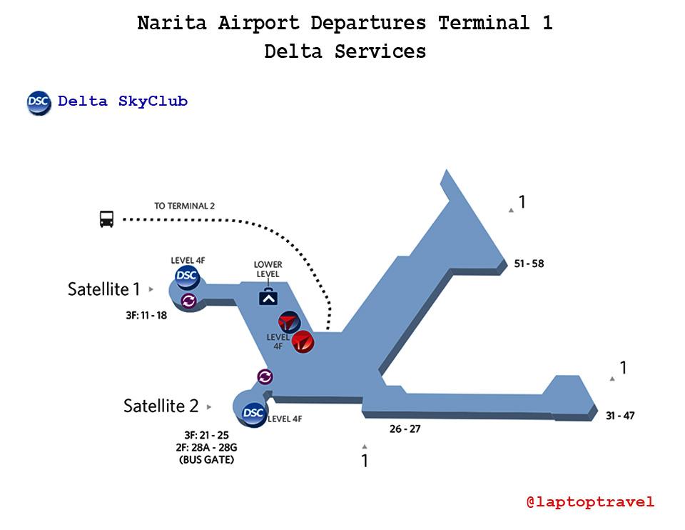 Tokyos Narita Airport Review Deltas Terminal 1 SkyClub At Gate