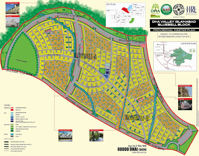 DHA Valley Islamabad Bluebell Block Map