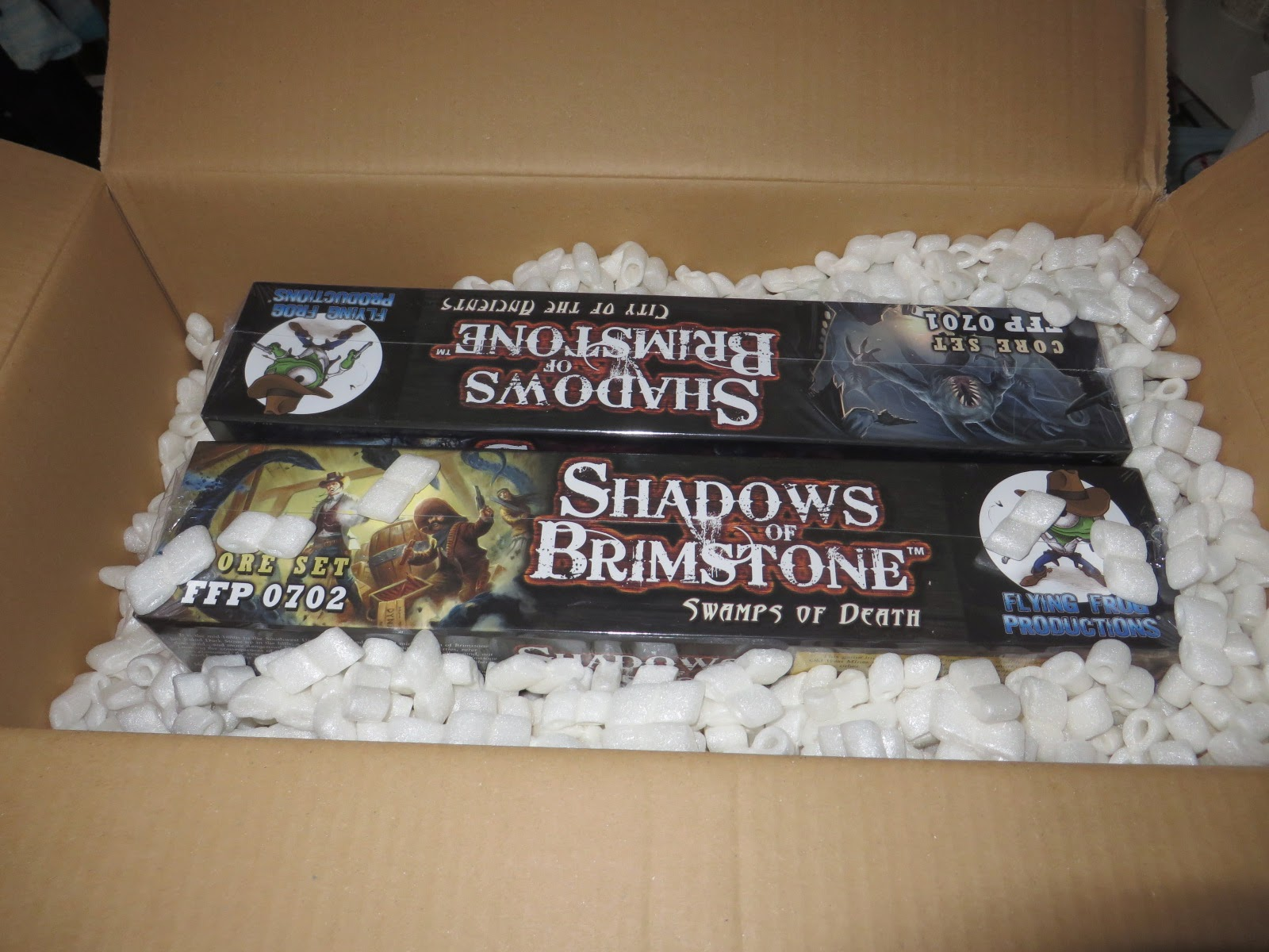 Shadows, Brimstone, Unboxing, review, Swamps of Death, City of the Ancients