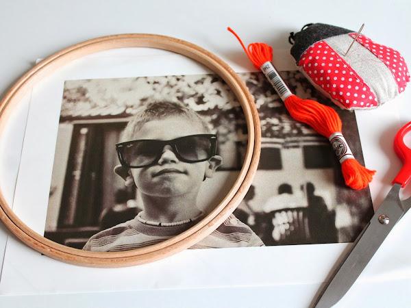 DIY Foto Ricamate / DIY Stitched Photos