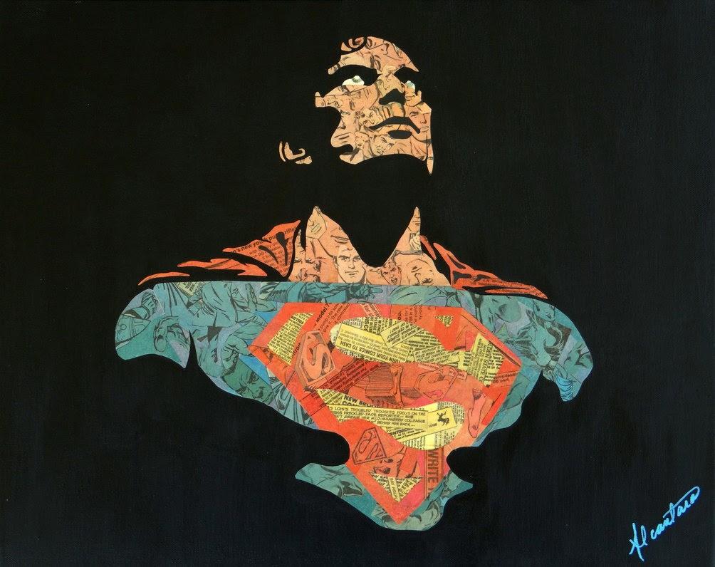 17-Superman-Mike-Alcantara-Comic-Collage-Art-www-designstack-co
