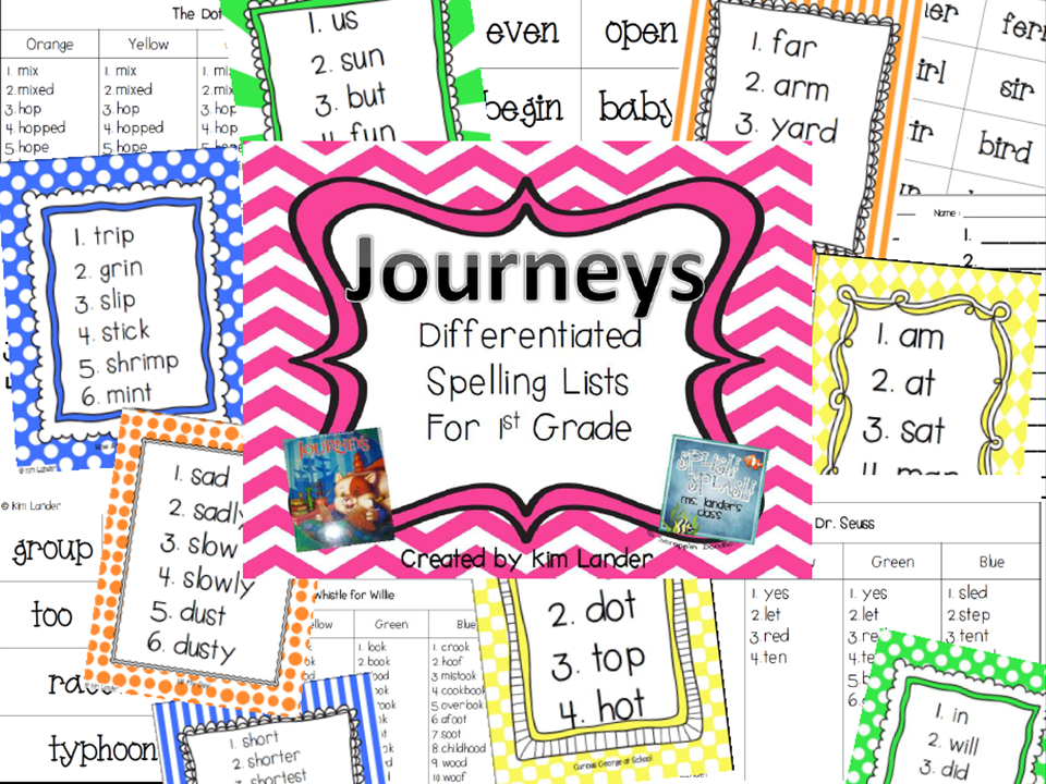 http://www.teacherspayteachers.com/Product/Journeys-Differentiated-Spelling-Lists-for-First-Grade-1127458