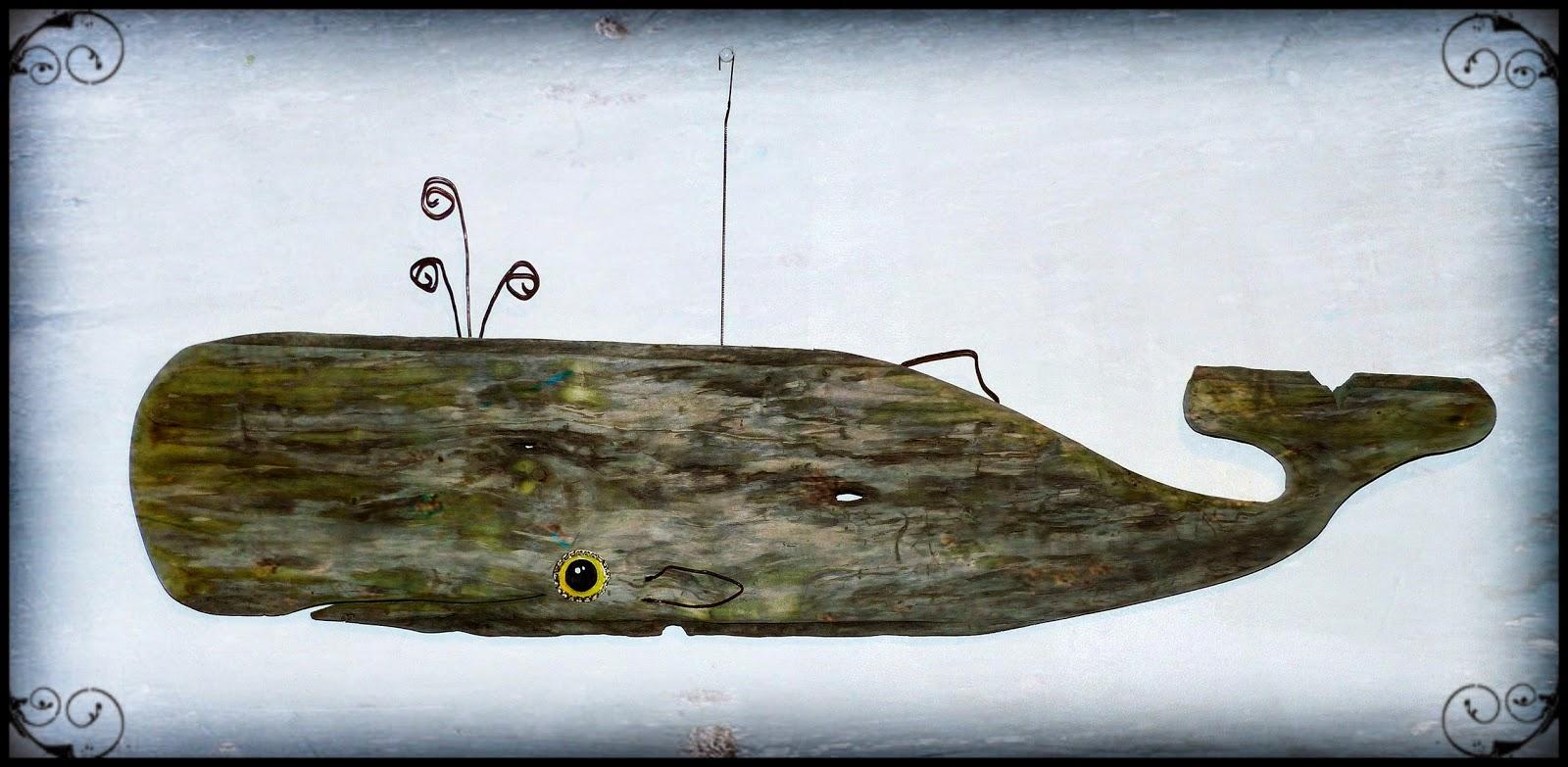 Cetus, la baleine céleste, création en bois flotté   Mutoz inc. Art ...