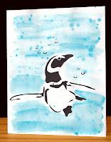 penguine greeting card