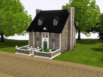 cute house stone sims 3