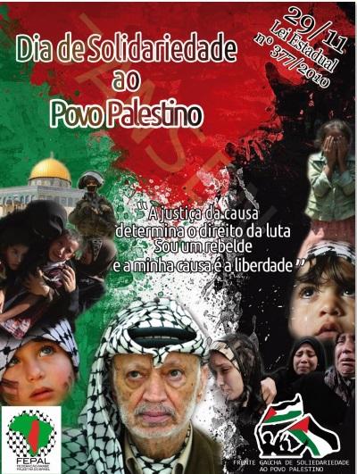 @9 de novembro,Dia Internacional de Solidariedade ao Povo Palestino