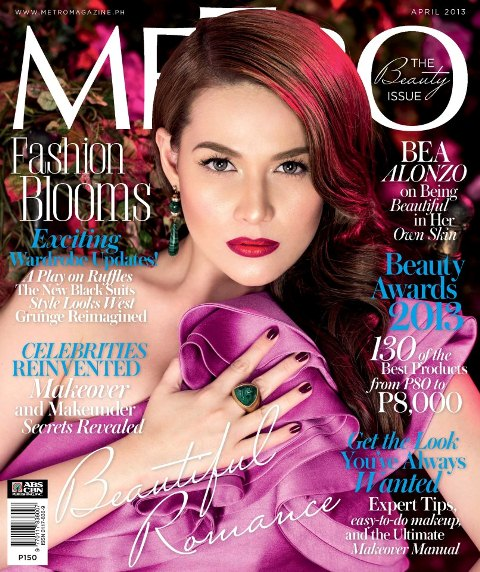 Bea Alonzo Shows 'Skin' in Metro Magazine April 2013