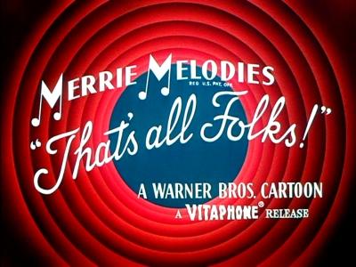 Imagen con el final de los dibujos animados: Merrie Melodies
