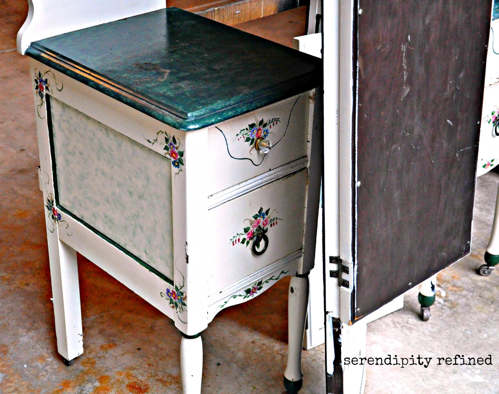 Serendipity Refined Blog Help With Your Diy 4 Chalk Painted Vanity And Mirror Transformation