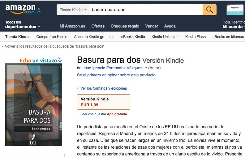 """""""Basura para Dos"""". Novela"""