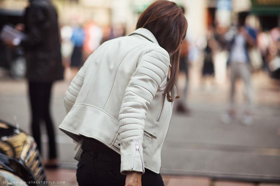 white biker jacket- campera de cuero blanca