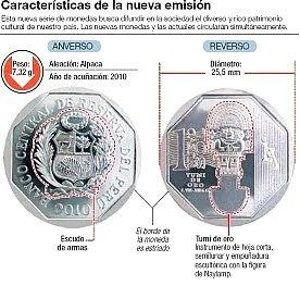 """Características de la moneda de un sol """"Tumi"""""""