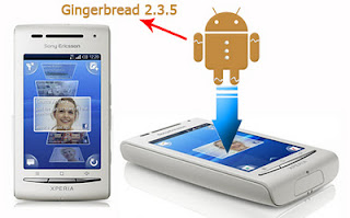 Cara Upgrade Sony Ericsson Xperia X8 to Gingerbread 2.3.5 | kingdom