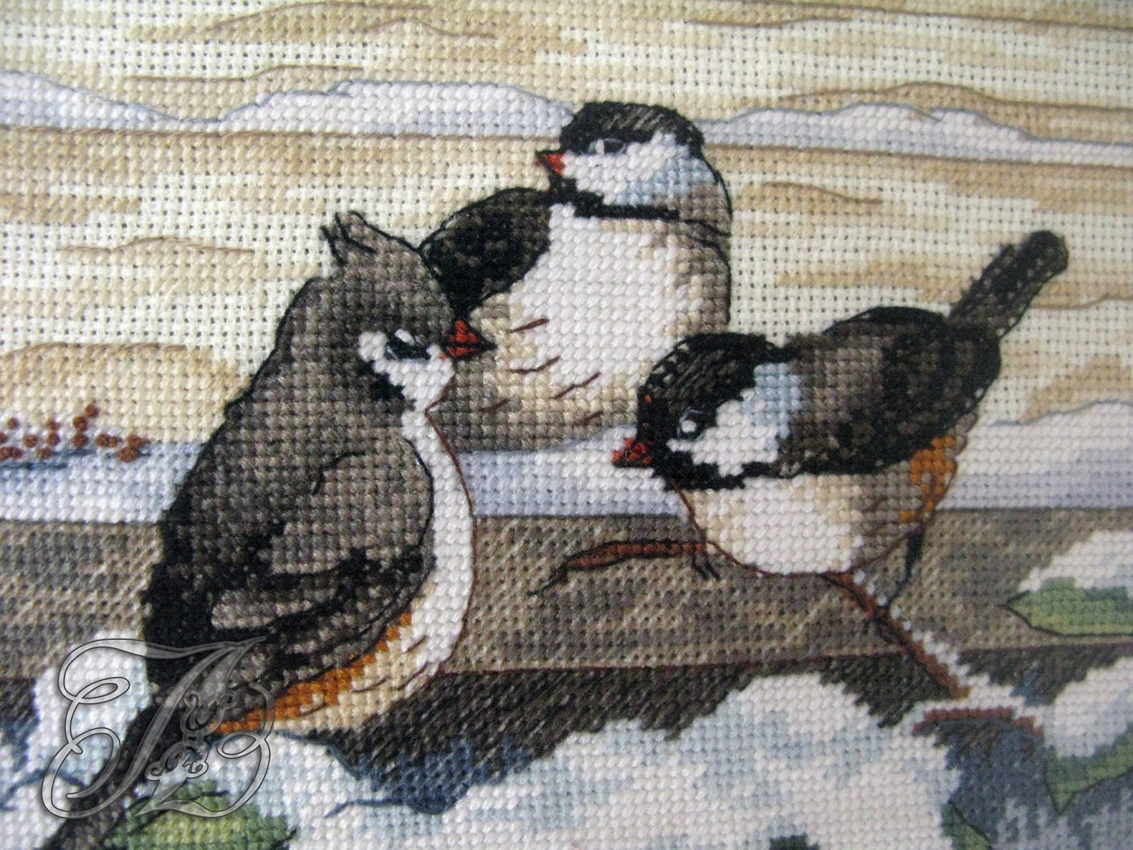 Вышивка дименшенс птицы