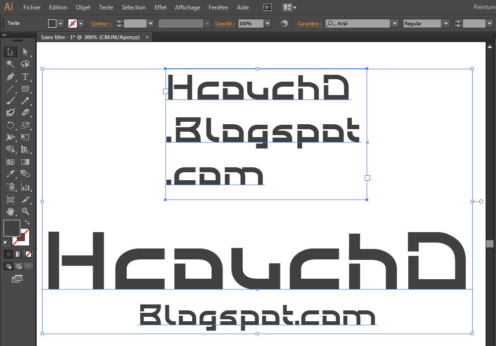 تغيير من نقطة كتابة إلى مساحة كتابة : HcouchD