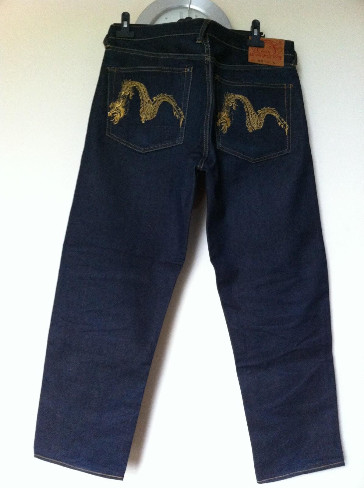 azim wiganuk bundle evisu jeans gold dragon size 32