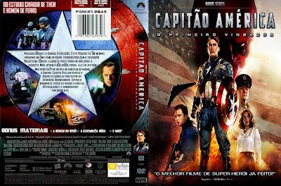 Capitão América O Primeiro Vingador DVD Capa
