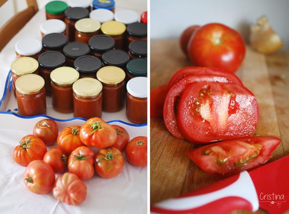 conserva de salsa de tomate casera