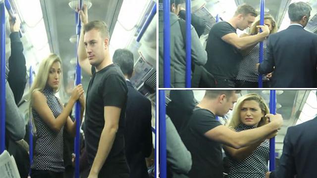 بالفيديو.. شاهد كيف تصرف راكب عندما شاهد امرأة تعرضت للتحرش في حافلة بلندن