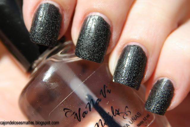 Arenado negro - Vanavi nails - Vanesa Villata