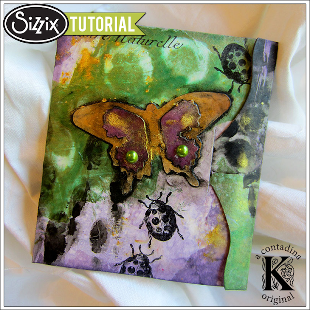 Sizzix Die Cutting Tutorial: Mixed Media Seed Packet by Vivian Keh