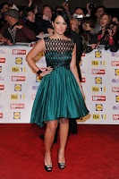 Tulisa Contostavlos green dress