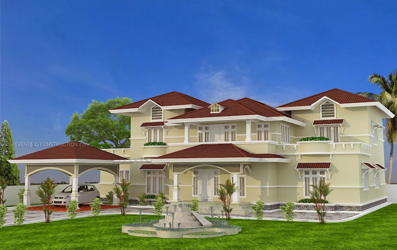 Unique sloping roof luxury home title=
