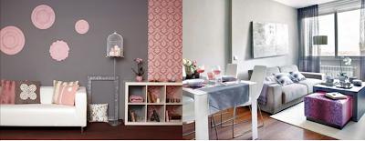 Pintura y madera el color del mes septiembre gris - Pinturas decoracion salones ...