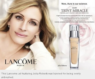 L'Oreal ads of Julia Roberts