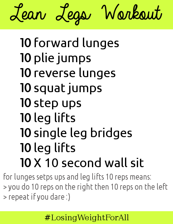 Lean Legs Workout