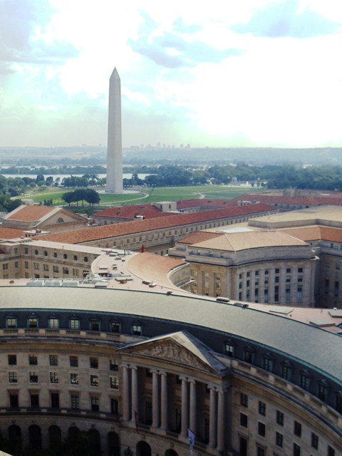 View from Old Post Office Tower in Washington DC