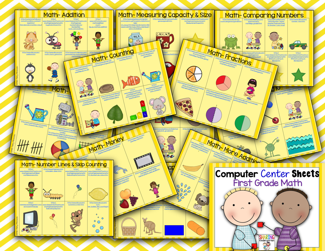 http://www.teacherspayteachers.com/Product/Computer-Center-Sheets-1st-GradeMath-1348703