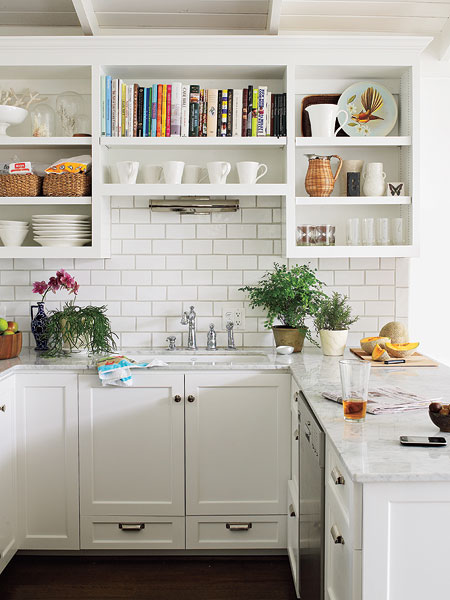 Another Favorite Kitchen With Artfully Displayed Cookbooks And Dishes