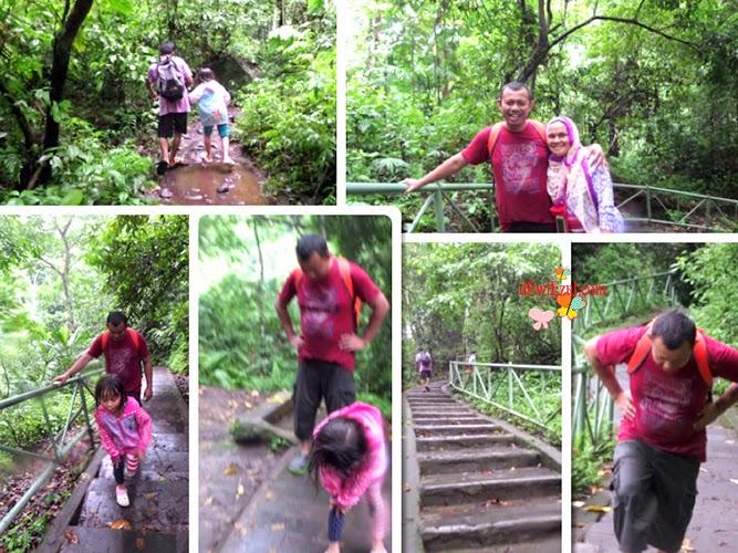pengalaman ke air terjun Tiu Kelep bersama anak