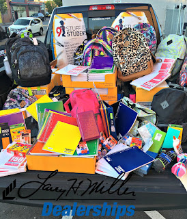 Larry H. Miller Dodge Ram Cherry Creek partnered with Volunteers of America Colorado Branch and Denver's 9 news for the Stuff for Students School Supply Drive!