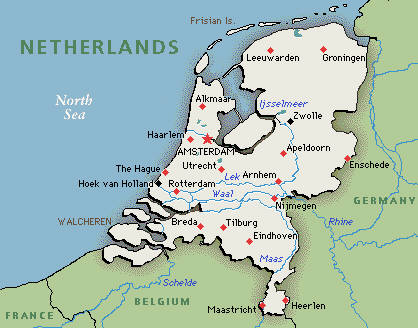 Map of Holland Cities Pictures  Map of Netherlands Holland