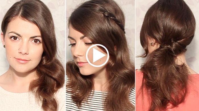 Coiffure cheveux long facile - Coiffure simple et rapide ~ Photo ...