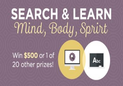 Swagbucks Search & Learn Mind Body Spirit Win $500 or 1 of 20 Prizes