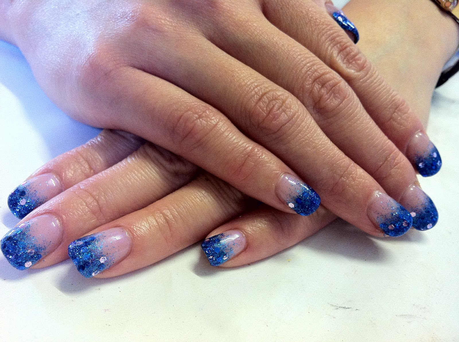 Brush Up And Polish Up Cnd Shellac Nail Art Glitter Fade Mermaid