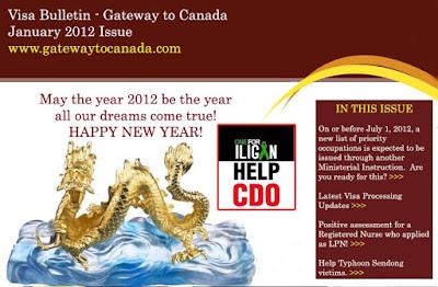 January 2012 Visa Bulletin
