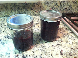 Six cups of cherries equals three cups of jam.