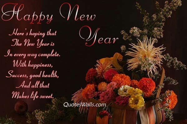beautiful happy new year wishes message