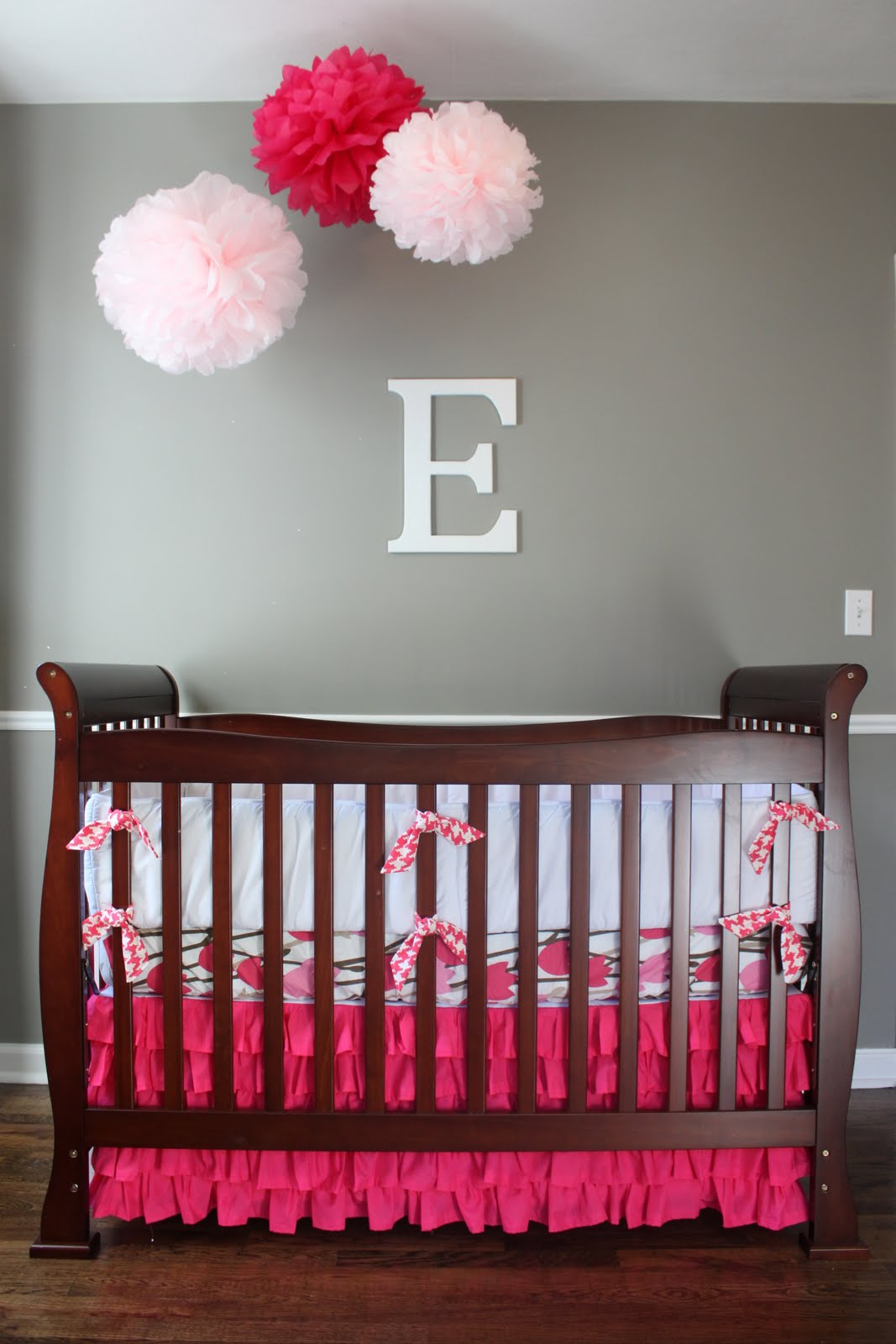 Simple sage designs check this out baby girl nursery for Baby girl room decoration