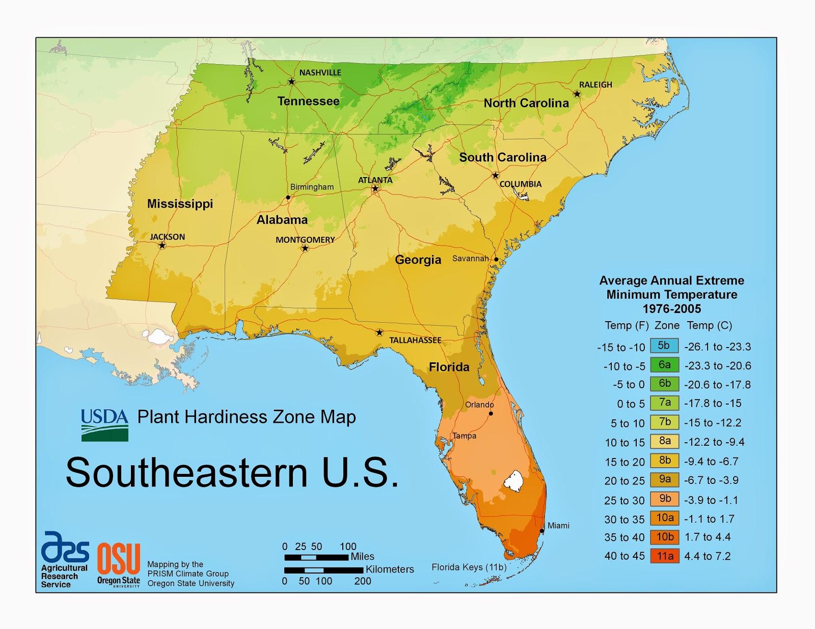 Purple Iris Perspective USDA Plant Hardiness Zones Regional Maps - Us growing zones map
