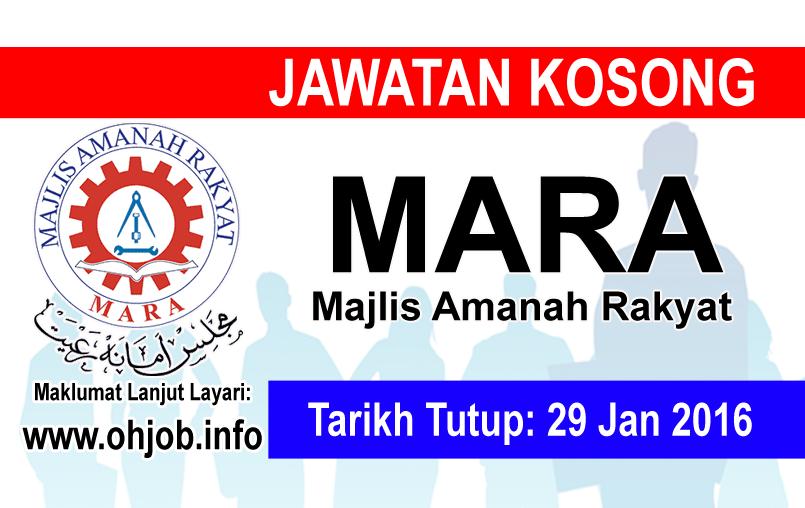 Jawatan Kerja Kosong Majlis Amanah Rakyat (MARA) logo www.ohjob.info januari 2016