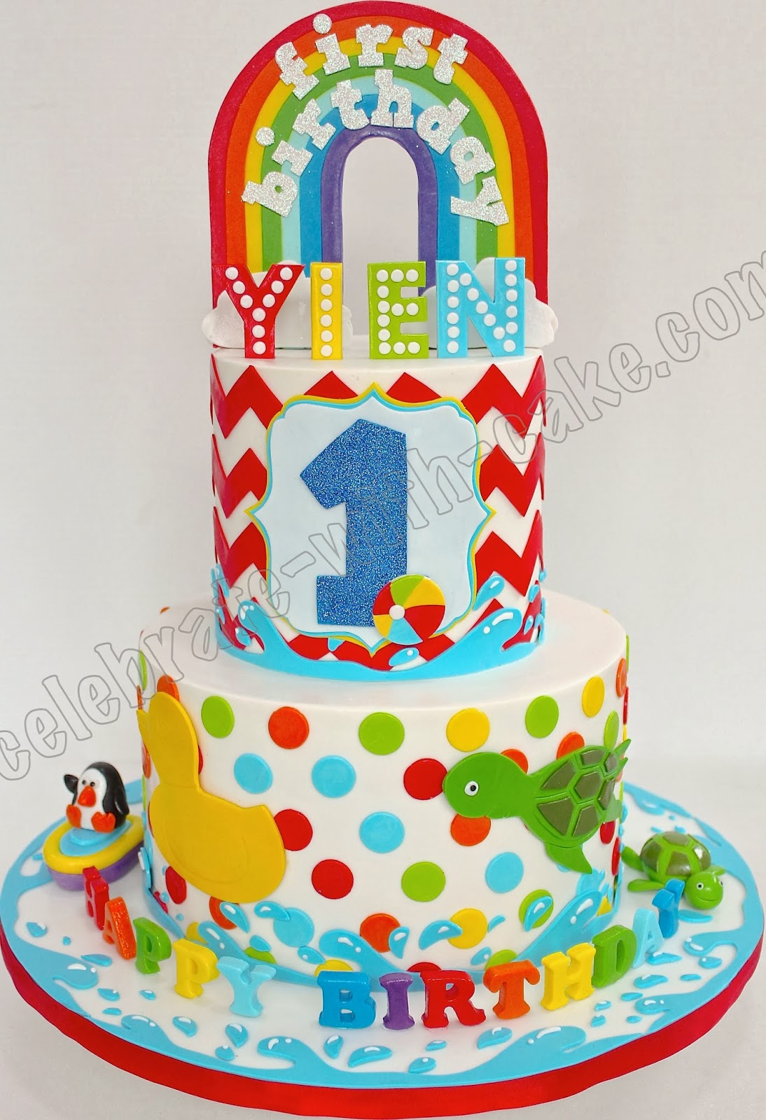 Toys For A 1st Birthday : Celebrate with cake baby toys st birthday tier