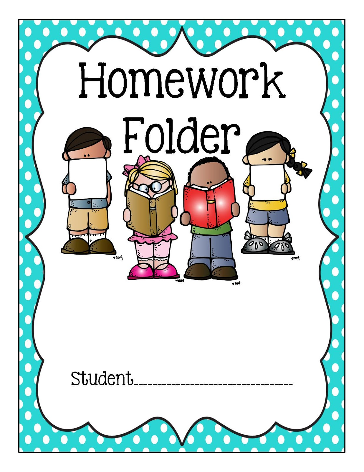 Homework Book Cover Printable ~ Tales of a first grade teacher june