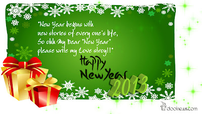 Happy New Year 2013 Greeting Wallpaper